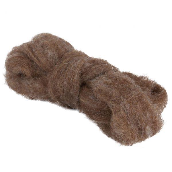 Woll-Lunte, Ø 3-4mm, braun