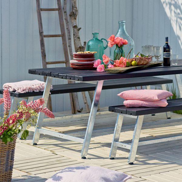 Gartentisch & Bänke ROYAL, Set 207cm