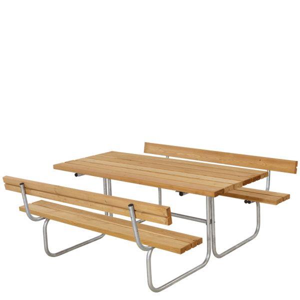 Picknicktisch mit Bänken CLASSIC & Lehnen