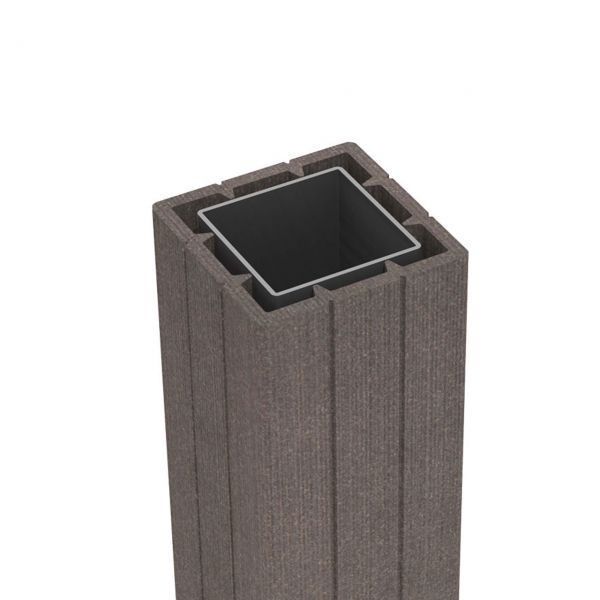 BPC Pfosten 7x7 Sichtschutzzaun Solid, terra-braun