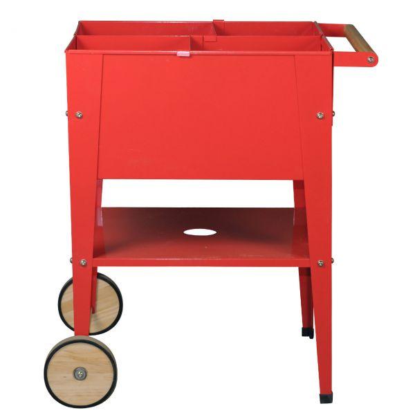metall hochbeet mit rollen 60 x 60cm rot. Black Bedroom Furniture Sets. Home Design Ideas