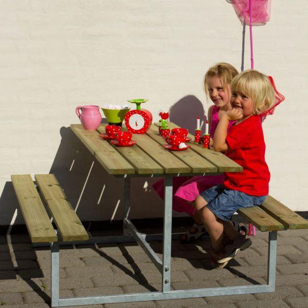 Kinder Picknicktisch mit Bänken BASIC